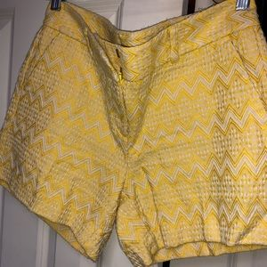 Ann Taylor Factory yellow shorts